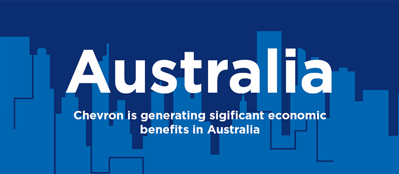 Chevron is generating significant economic benefits in Australia.